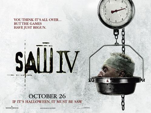 Cartel de Saw 4 en el Reino Unido